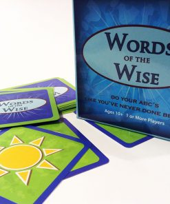 Words of the Wise packaging with cards